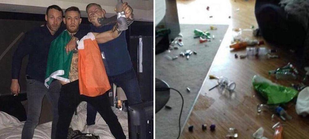 McGregor a DEVASTAT o camera de hotel! Party 5 zile si 5 nopti, apoi s-a urcat cu picioarele pe un Rolls. FOTO
