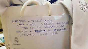 O noua disputa Real - Barca! Ce scria pe tricoul pe care Ramos i l-a dat arbitrului inainte de El Clasico