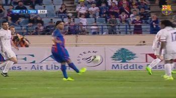 Gica Popescu a jucat in El Clasico al legendelor! Ronaldinho, 3 assist-uri geniale, inclusiv un NO LOOK PASS!