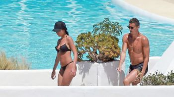 Cristiano Ronaldo s-a relaxat la Ibiza inaintea returului cu Atletico! Toti ochii au fost pe iubita lui: FOTO