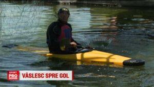 Romanii vor sa fie cei mai tare in cel mai nou sport pe apa: polo cu kaiacul. VIDEO