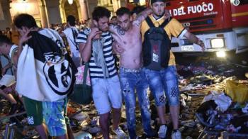 2017, imaginea terorii in Europa: 1527 de raniti la Torino, 3 in stare grava! Haosul a pornit dupa ce un suporter a aruncat o petarda in aer si a strigat ca e o bomba