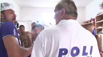VIDEO Surpriza uriasa pentru jucatorii lui Poli dupa castigarea barajului! Cum a intrat Ionut Popa in vestiar