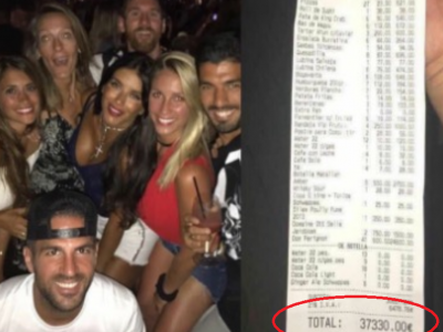 Reactia de toti banii a lui Messi dupa ce nota de plata de 37.330 € din Ibiza a devenit viral pe net!