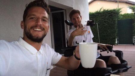 Dries Mertens, in vizita la Mihai Nesu: Alaturi de prietenul meu bun! Imaginile postate pe Facebook FOTO