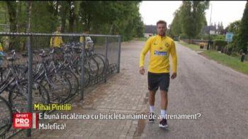 """Da-te, tata, ca dau peste tine!"" :) Stelistii pedaleaza NON-STOP in Olanda. Super imagini din cantonamentul Stelei"