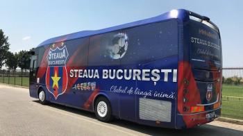 Vehicul terestru destinat transportului noilor recruti :) CSA Steaua si-a cumparat autocar: masina circula cu numere de inmatriculare de TAB-uri