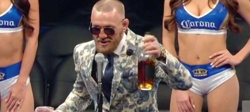 """""""Woaaaa bun mai e wiskey-ul asta!"""" McGregor a venit beat la conferinta de presa dupa meci. Ce i-a spus lui Mayweather"""