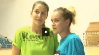 "VIDEO | Fata lui Tibi Lung si fata lui Flavius Stoican joaca handbal la Craiova: ""Visam la un titlu!"""