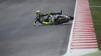 """""""Doctorul"""", pe mana medicilor! Vis spulberat pentru Valentino Rossi: supercampionul din MotoGP si-a rupt piciorul pe circuit, la antrenament"""