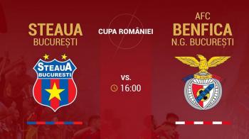 Primul derby URIAS pentru Steaua! Meci cu Benfica, astazi in Ghencea!