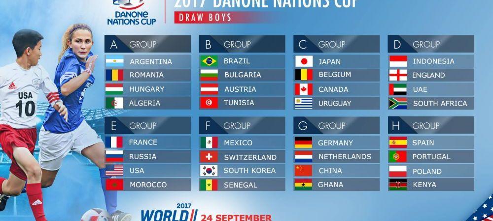 Romania, in grupa cu Argentina si Ungaria, la Mondialul Pustilor! Cum arata tragerea la sorti a Danone Nations Cup 2017