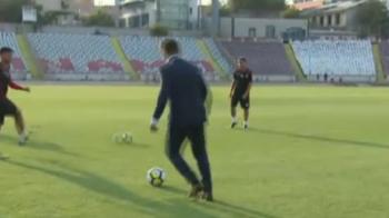 Mutu, BRILIANT la antrenamentul lui Dinamo! N-a rezistat cand a vazut mingea, desi era in costum. Ce a facut