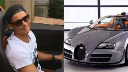 FABULOS: cat timp a jucat Ronaldo pentru Bugatti-ul Veyron Grand Sport din garajul sau si ce masini conduc Messi, Gigi Buffon si Pogba. FOTO
