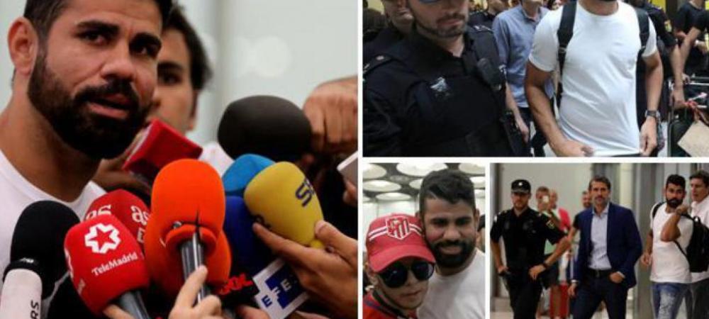 """Diego Costa s-a intors la Madrid: """"Am revenit acasa"""". Primele declaratii dupa transferul de 60 milioane euro"""