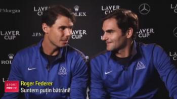 Federer si Nadal au facut pentru prima data echipa si au fost de neinvins! Spectacol total facut de cei doi: VIDEO