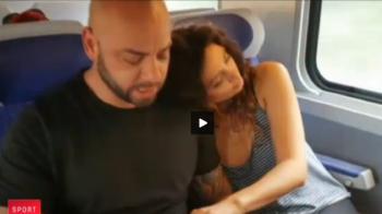 Dragoste cu sila :) SUPER FAZA cu Giani Kirita in tren! Ce i-a facut fetei de langa el, in timp ce dormea VIDEO