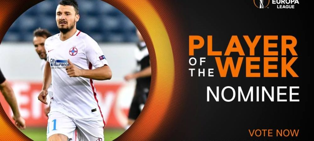 Budescu, locul 2 in topul pentru titlul de jucatorul etapei in Europa League. Cine i-a luat fata
