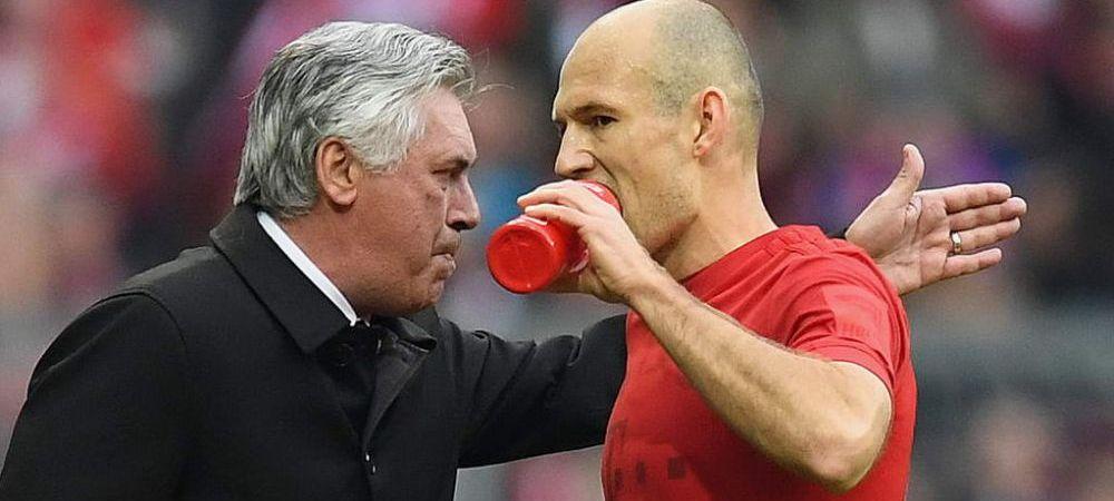 """Robben CONFIRMA ca Ancelotti a fost demis de jucatori: """"Copilul meu are antrenor mai bun decat el la scoala!"""""""