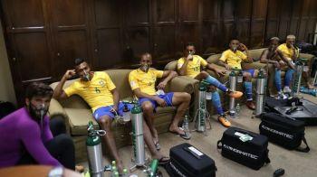 """""""E INUMAN!"""" Jucatorii Braziliei, cu masti de oxigen dupa meciul cu Bolivia! Neymar a facut scandal"""