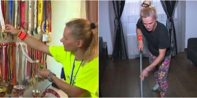 Femeia fantastica si adevarata poveste de Hollywood! Campioana din Romania care castiga medalii pe banda rulanta si lucreaza ca menajera pentru a se putea intretine