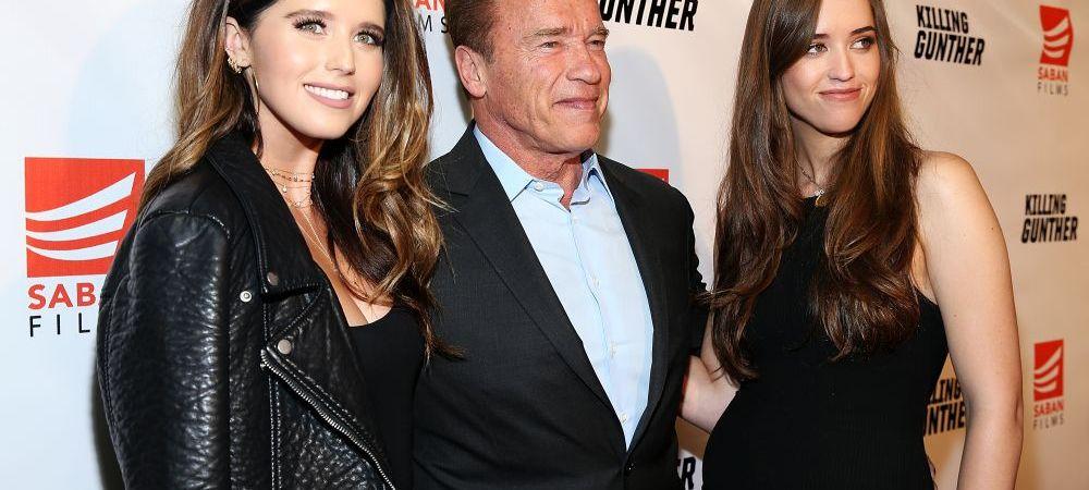 """Aparitie """"WOW"""" a lui Arnold Schwarzenegger alaturi de fiicele sale de 26 si 27 de ani. Cum arata Katherine si Christina: FOTO"""