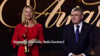 La 41 de ani de la Montreal, Nadia a mai luat un 10! Premiu special pentru fosta gimnasta. VIDEO