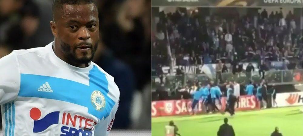 """""""Evra, CARA-TE!"""" Fanii lui Marseille, nemilosi cu Evra, dupa ce a lovit un fan! Ce banner i-au dedicat. FOTO"""