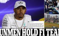 """JAF ARMAT la echipa lui Hamilton in Brazilia! Pilotul e scandalizat: """"Focuri de arma, arme indreptate catre capul cuiva! Se intampla in fiecare an!"""""""