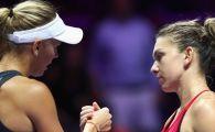 Simona Halep, invinsa din nou de Caroline Wozniacki! Daneza e jucatoarea lunii octombrie