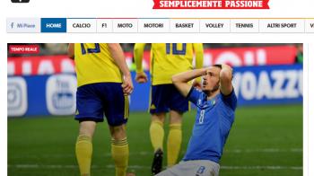 APOCALIPSA in Italia dupa eliminarea din drumul spre Mondial! Ce scriu ziarele despre seara in IAD a nationalei
