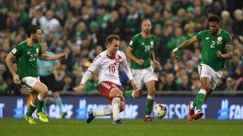 Sperante spulberate pentru irlandezi! Eriksen a reusit un hattrick, Danemarca este ultima tara europeana calificata la Mondial! Irlanda 1-5 Danemarca