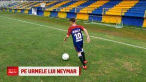 """""""Am freza lui Neymar, inaltimea lui Messi! Sigur se alege ceva bun de mine!"""" Cine este pustiul roman care va ajunge la Barca, dar vrea sa se transfere la PSG"""