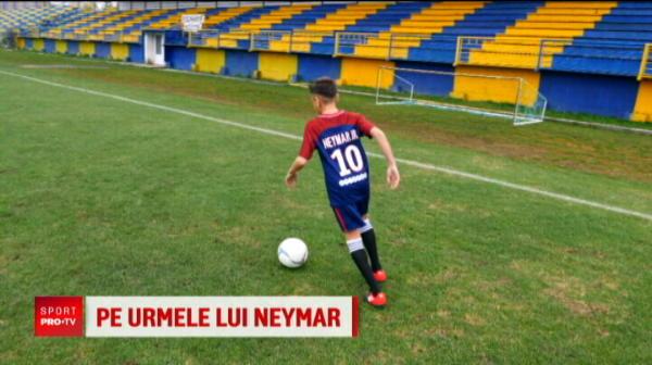 """""""Am freza lui Neymar, inaltimea lui Messi! Sigur se alege ceva bun de mine!"""" Cine este pustiul roman care va ajunge la Barcelona"""