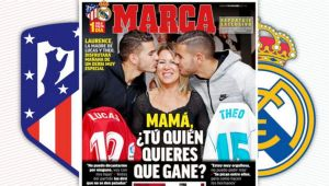 """""""Mama, tu cu cine vei tine?"""" Imagine spectaculoasa inainte de marele derby dintre Atletico si Real Madrid! Ultima data s-a intamplat asa ceva in 1929!"""