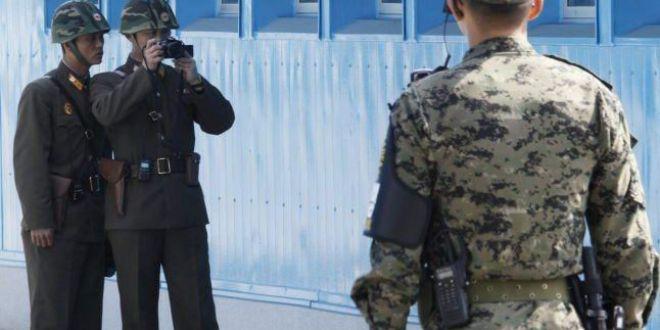 Imagini dramatice cu momentul dezertarii militarului nord-coreean, filmate de camerele de supraveghere de la granita