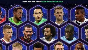 UEFA a anuntat lista celor 50 de jucatori nominalizati pentru echipa anului 2017! Fanii pot sa voteze aici jucatorii preferati
