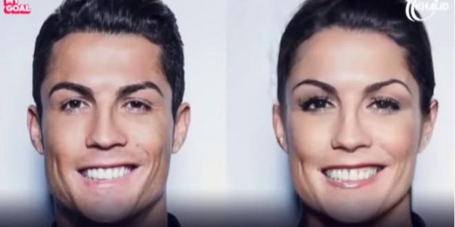 Imaginile care te pun pe ganduri :) Cum ar arata cei mai tari fotbalisti daca ar fi femei. Messi si Zlatan sunt geniali