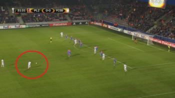 Nu i-a iesit singur cu portarul, era sa-i iasa de la 35 de metri! Alibec a incercat sa dea un gol FABULOS la Plzen. VIDEO