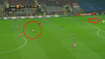 A prins portarul iesit si a tras de la mijlocul terenului! Supergol reusit de un brazilian pentru Braga, in Europa League: VIDEO