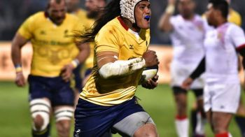 Romania a fost invinsa de Tonga, scor 25-20, intr-un meci test de rugby