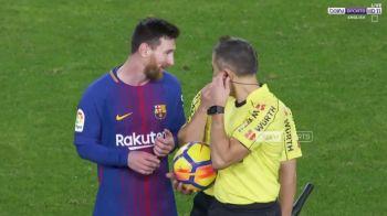 Messi s-a dus direct la arbitru la pauza meciului cu Valencia! Ce i-a spus despre golul care i-a fost refuzat