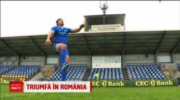 Tongalezul care poate juca pentru nationala Romaniei! De ziua nationala a alergat dupa minge prin tot Bucurestiul