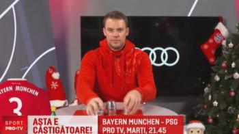 VIDEO: Neuer a jucat alba-neagra cu fanii lui Bayern pe net :) Nemtii, pregatiti pentru miracol: 4-0 marti cu PSG si castiga grupa in Champions League