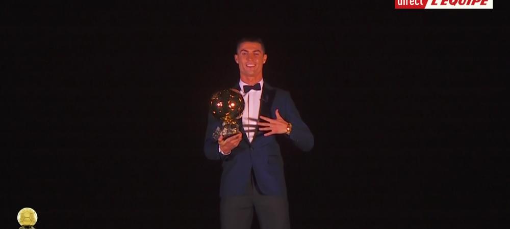 SIiiiiiiiiiiiiiiiii! Cristiano Ronaldo, Balonul de Aur si in 2017! L-a egalat pe Messi la numarul total de trofee! VIDEO