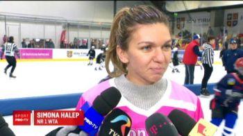 """Primul meci pentru echipa de hochei a Simonei Halep: """"Ma descurc destul de bine pe patine!"""" VIDEO"""