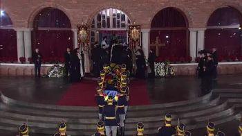 Regele Mihai, inmormantat în Necropola Regala. Imagini de la funeralii. VIDEO