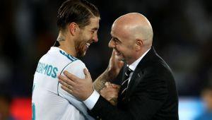 Ce i-a spus seful FIFA lui Sergio Ramos in momentul in care i-a inmanat trofeul Mondialului Cluburilor