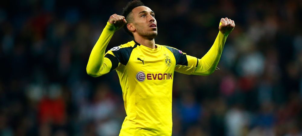 Aubameyang a semnat in secret! Greseala care l-a dat de gol: oficialii clubului au anuntat IN DIRECT, la TV