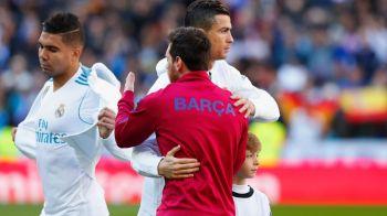 Gestul facut de Ronaldo in momentul in care a dat mana cu Messi, la inceputul meciului! Portughezul s-a mai remarcat o data in timpul jocului